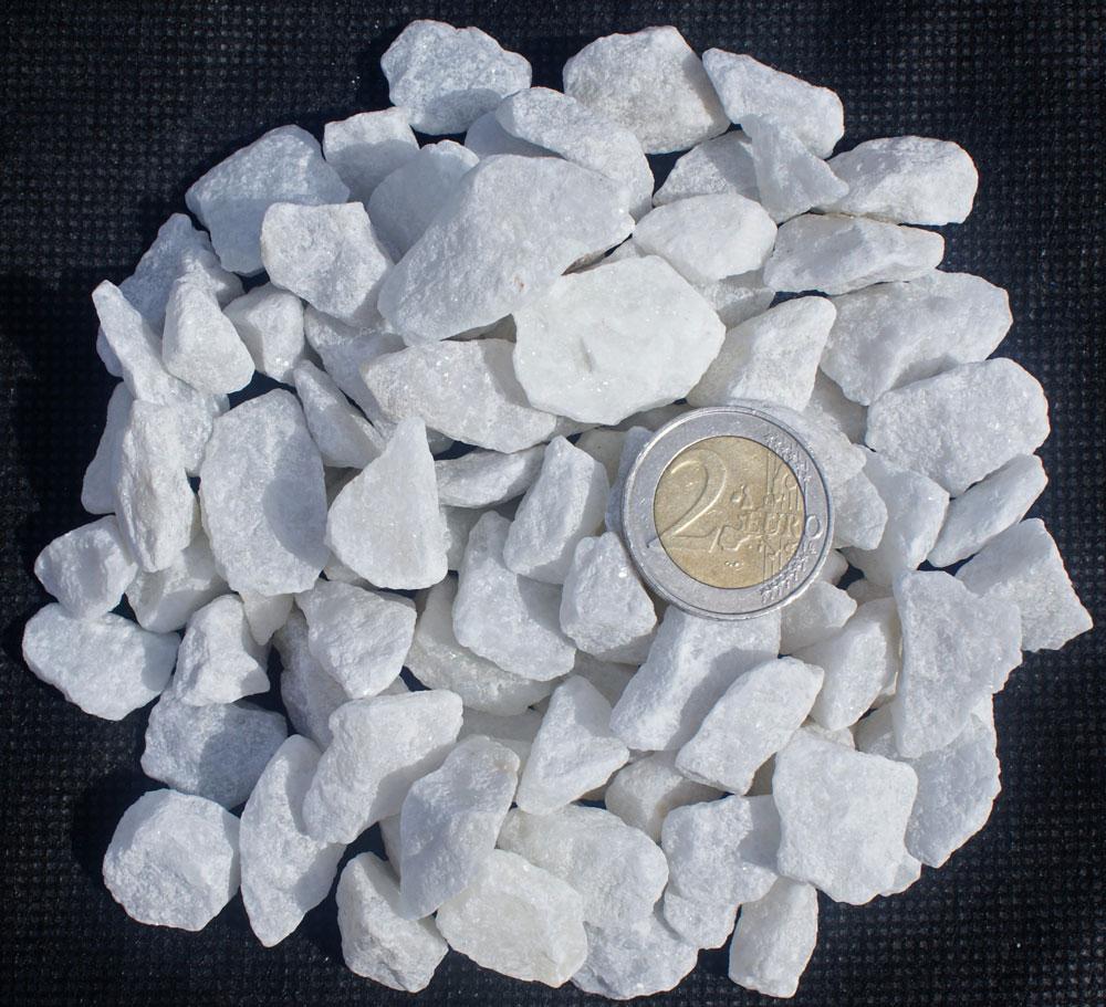 Gravier marbre blanc paillet galets granulats cie ggc for Gravier en marbre blanc